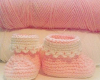 Crochet Lacy Baby Booties