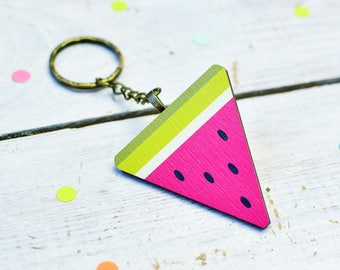Watermelon Keyring for House Warming Gift | Colourful Fruit Accessories | Housewarming Gift | Kawaii Gifts | Watermelon Gifts