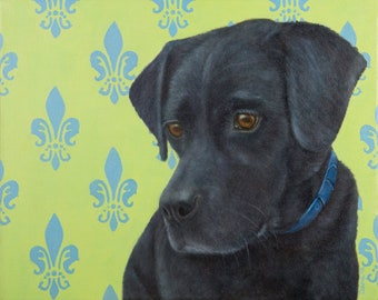 Labrador Retriever Magnet - Black Lab Magnet - Dog Magnet - Proceeds Benefit Animal Charity