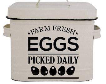 Farm Fresh Eggs | Cutting & Printable File | svg | eps | dxf | png | Home Decor | Stencil | Farmhouse | Vintage | Farmers Market