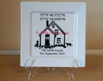 Home Display Plate with Grid Reference