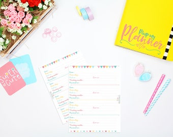 Order Tracker Inserts, Printable Planner Inserts, A5 Large planner Insert