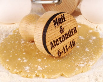 Custom Wedding Stamp Engraved Cookie Cutters Plunger for Embossed Wooden Personalized Gift Wedding Date Stamp Custom Gift Bridal Shower Gift