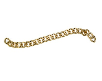 23cm Length - Light Gold Purse Chain, Replacement Chain, Chain Strap, Chunky Curb Chain, Chain Handle with Clasp, Layered Chain