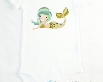 Little Mermaid Bodysuit T-Shirt, Customizable Baby Name, Personalized Tee, Baby Shower Gift, Birthday Present, Toddler, Custom Carter's