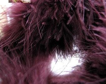 Marabou Boa Feathers Aubergine Burgundy Plum