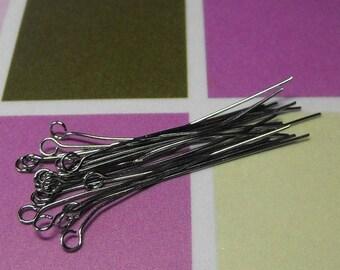 Mothers Day Sale 20 Pack 1.5 Inch Gunmetal Finish Brass 24 gauge Eye Pins