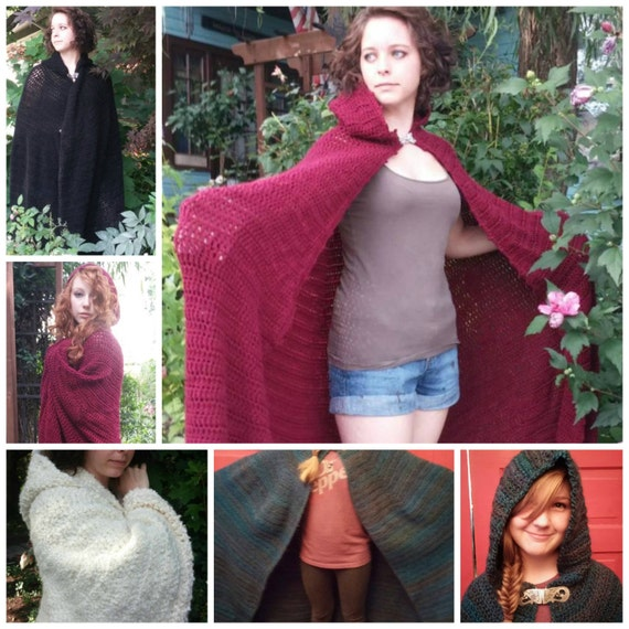 Crochet Full Length Cloak Pattern Pdf Pattern Sca Faires