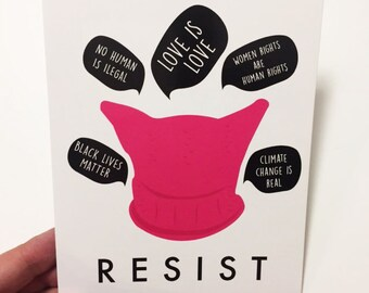 RESIST Postcard - Card
