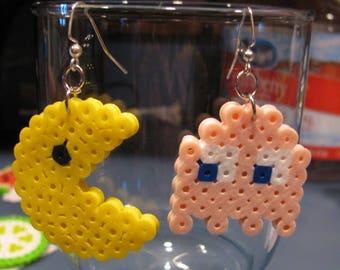 Pac Man Perler Earrings