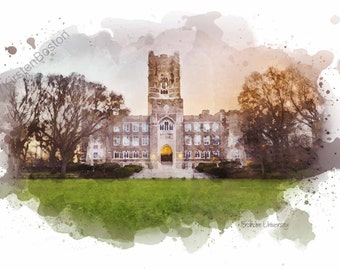 Fordham University, New York by Kirsten Boston, Giclée, Watercolor, Graduation Gift, NYC, Signed, Digital, Print, A5, A4, A3