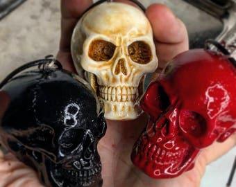 Large Human Skull Pendant