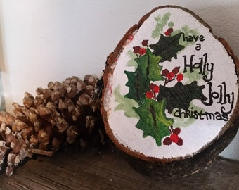 Holly Jolly Christmas painting