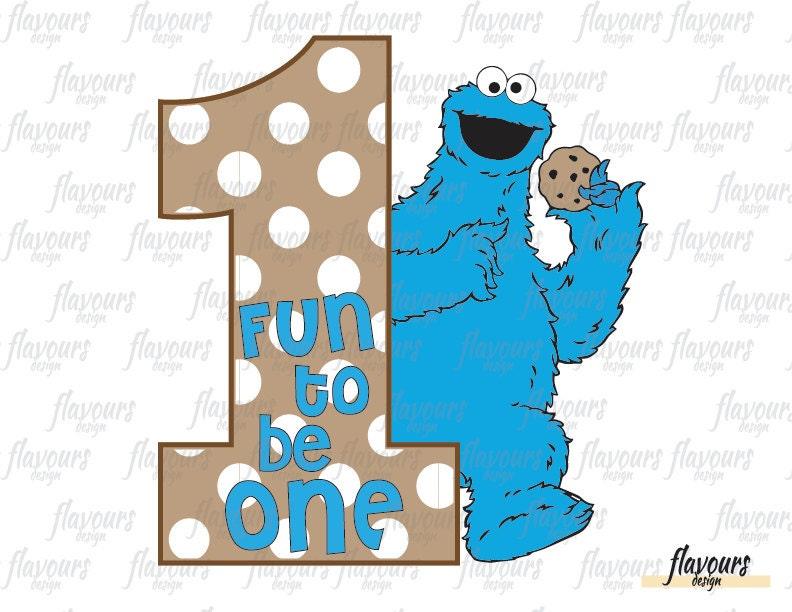 Cookie Monster Personalized Birthday Sesame Street Inspired
