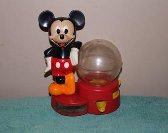 Vintage Wonderful World of Disney Mickey Mouse Bubble Gum Dispenser Machine