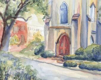 Church Watercolor Notecard Set