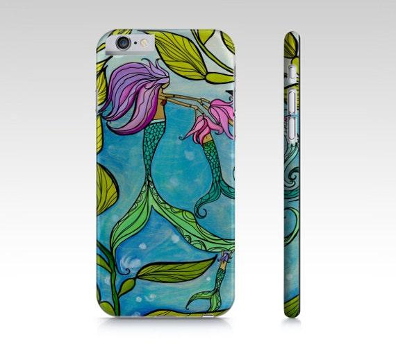 iPhone Galaxy Mermaid Ocean Lover Cell Phone Case Cover by Lauren Tannehill Art