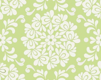 PRISCILLA by Lila Tueller - Fabric - Damask Green - Riley Blake Fabric - Quilting - Sewing - Home Decor - Floral