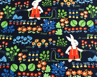 """End of Bolt, Tomato Bunny's Garden from the Bunny Garden Collection by Michael Miller Fabrics, Bunny, Easter,36""""x44"""""""