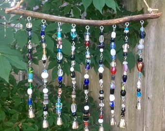Driftwood beaded chimes