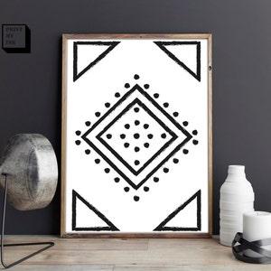 Navajo Print, Aztec Print, Boho Art, Southwestern Home Decor, Southwest  Print,