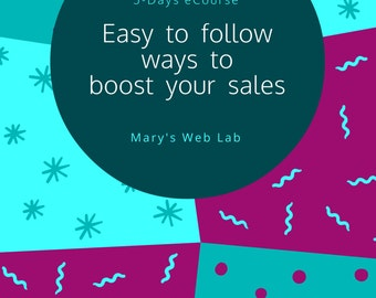Boost Your Sales   5-Days eCourse