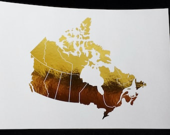 Oops Item - 8 x 10 Gold Foil Print - Country of Canada