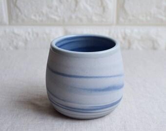 Blue and white marbled ceramic mug, contemporary mug, Ceramic Cup, Ceramic Tumbler, Porcelain Mug, Coffee Mug, interior design (M42)