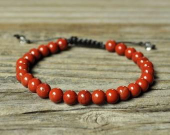 Base Chakra Bracelet, Red Jasper Bracelet, Yoga Bracelet, Meditation Bracelet, Chakra Healing, Crystal Healing, Beaded Bracelet, Mala