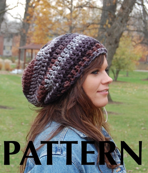 Brimless slouchy beanie crochet pattern super easy crochet hat this is a digital file dt1010fo
