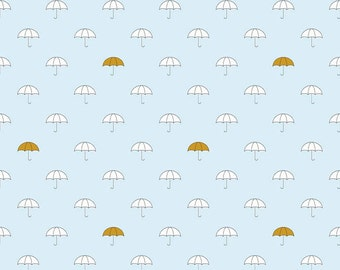 When Skies are Grey Main Blue by Riley Blake Cotton x 25cm