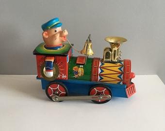 Vintage Tin Toy Train, Tilin-Tilon battery operated.