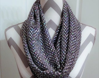 Scarves, Infinity Scarf, Fashion Scarves, Silver Glitter Scarf, Formal Scarves, Loop Scarf, Circle Sarf, Accessories, Ladies Clcothing