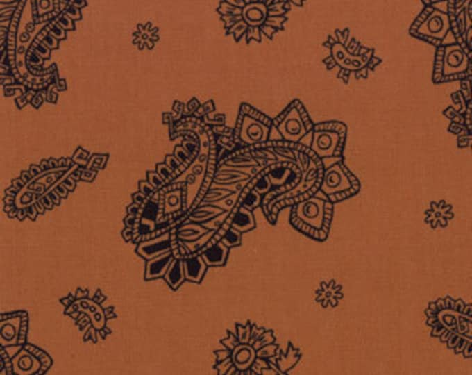 Western Fabric, Cowby King of The Ranch Brown Buckskin Fabric