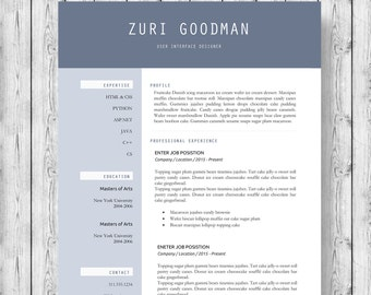 Modern Resume Template | 1, 2, 3 Page Resume Template | Cover Letter |