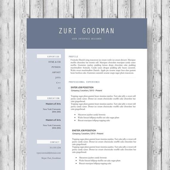 Plantilla de curriculum vitae moderno 1 2 3 Página