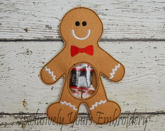 Gingerbread Man Candy Pouch
