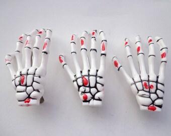 SALE--10 pcs  skeleton hand hair clips