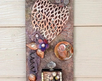 WALL ART – Mixed media wall art, Assemblage wall art, Reclaimed wood wall art, Wood and metal art, Home wall decor, Contemporary wall art