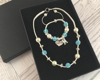 Kids Bridesmaid Jewellery, Personalised Bridesmaid Gift, Flower Girl Jewellery, Personalised Flower Girl Gift, Macramé Jewellery, Wedding