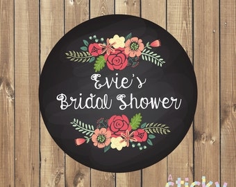 Personalized Bridal Shower Stickers, Bridal Shower Labels, Bridal Shower Favours, Bridal Shower Favor Stickers, Bridal Shower, Hen Party