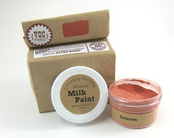 Salmon Milk Paint - Non-toxic All Natural Paint Perfect for Unfinished Wood Projects- Salmon
