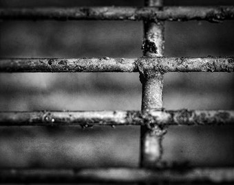 Bbq grill photography, black and white artwork, barbecue print, macro wall art, abstract home decor, rustic wall art, fine art photograph