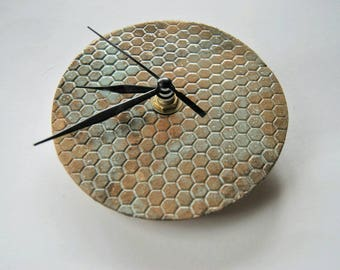 Ceramic wall clock, handmade clock, functional ceramic, home decor