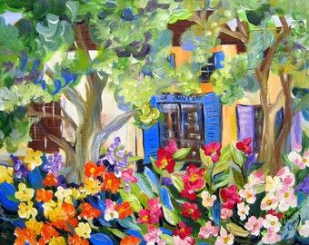 """Landscape Original Painting canvas art 22"""" x 28"""" Art by Elaine Cory"""