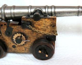Handmade 1970's Folk Art Revival Canon