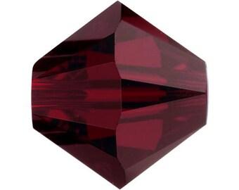 Garnet - 5mm - Swarovski Crystal Bicone - 5301