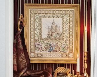 Counted cross stitch pattern | Teresa Wentzler | The Castle Sampler | Fantasy cross stitch pattern | Medieval cross stitch