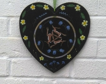 large size Celtic three hares heart