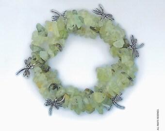 Beautiful Prehnite Dragonfly Bracelet